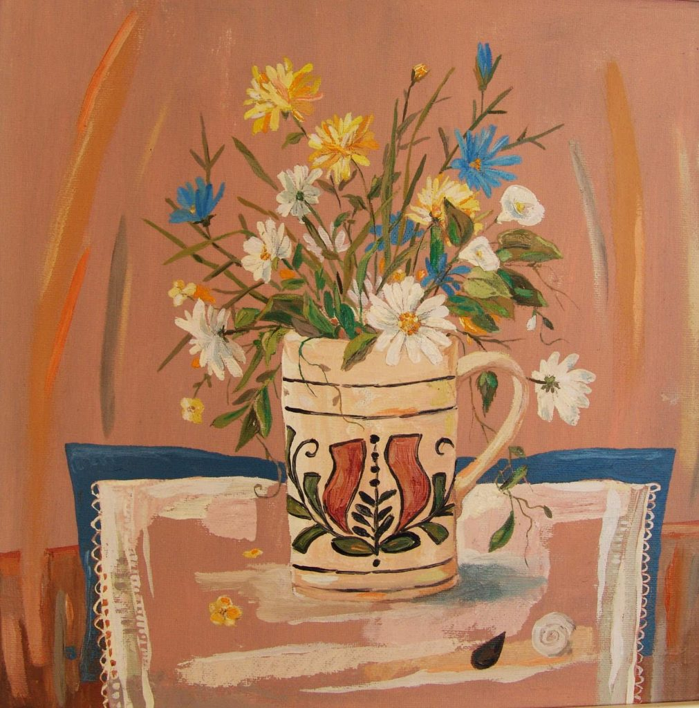 Flori de câmp tablou ulei pânză
